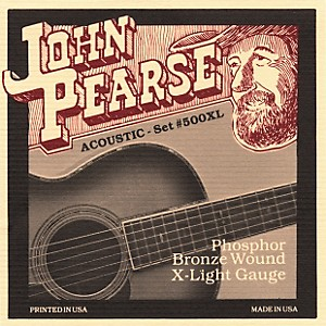 John Pearse 500XL Bronze Acoustic Guitar Strings by John Pearse