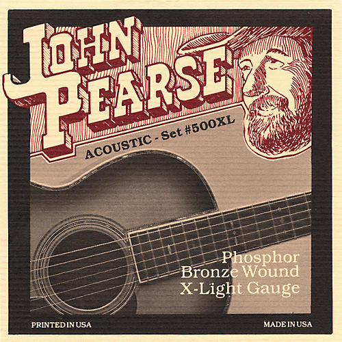 John Pearse 500XL Bronze Acoustic Guitar Strings-thumbnail