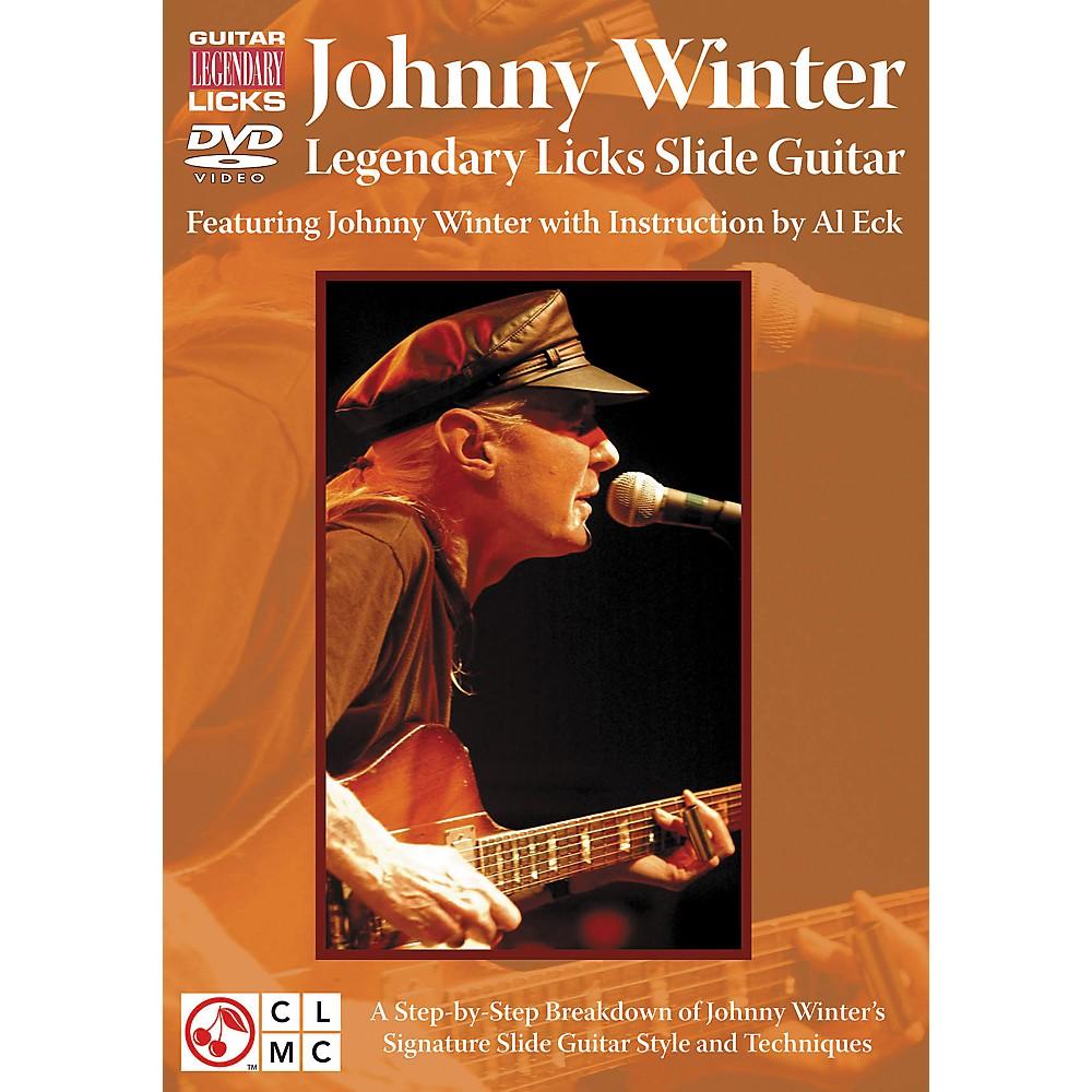 Cherry Lane Johnny Winter Legendary Licks Slide Guitar Dvd 1274034475947