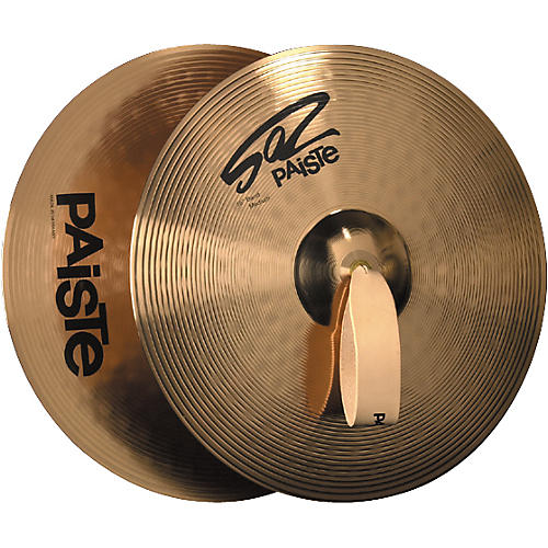 Paiste 502 Plus Band Medium Crash Cymbal Pair-thumbnail