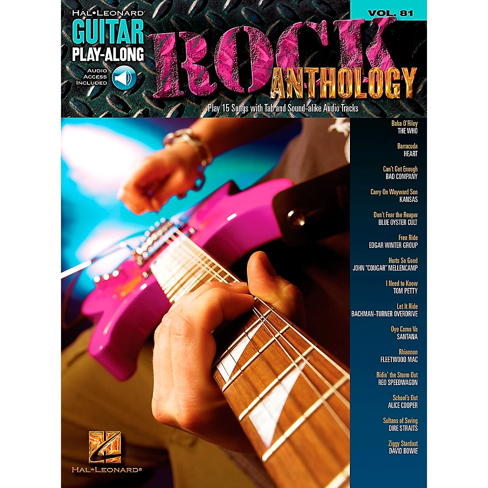 Rock Anthology Guitar Play-Along Series  Vol. 81 [Book/Cd] 1274034475765