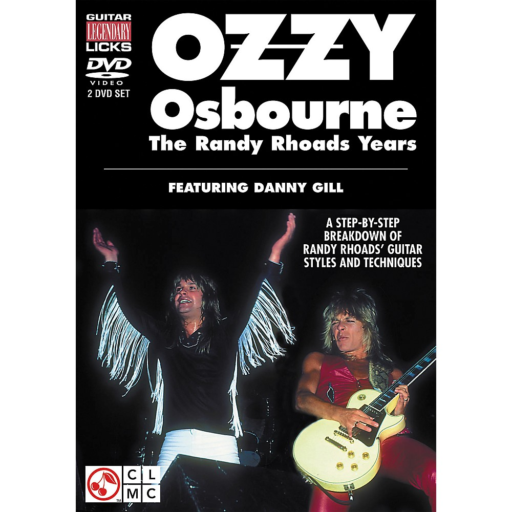 Cherry Lane Ozzy Osbourne: The Randy Rhoads Years - Legendary Guitar Licks (2-DVD Set) 1274034472842
