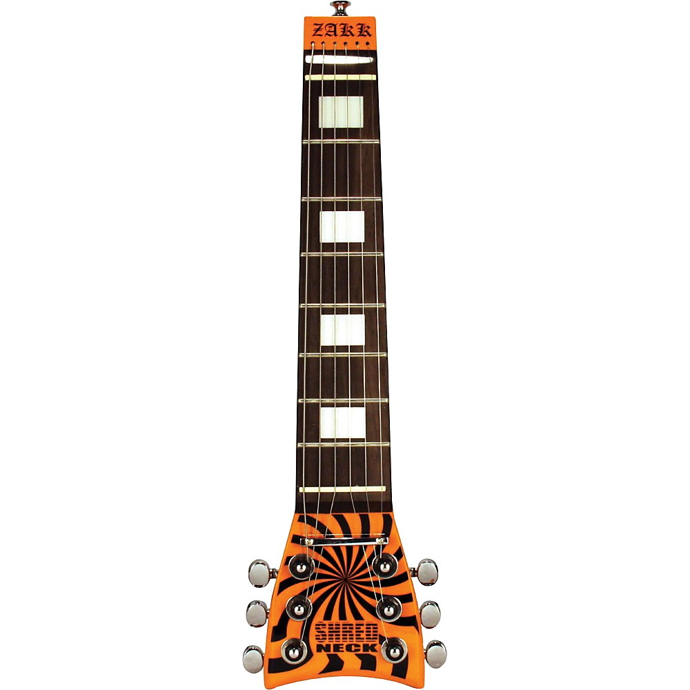 Shredneck Zakk Wylde Signature Practice Guitar Neck Orange And Black Buzz Saw