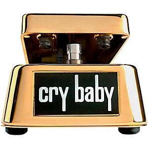 Dunlop 50th Anniversary Gold Cry Baby Wah Pedal by Dunlop