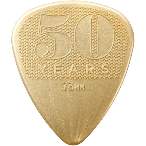 Dunlop 50th Anniversary Gold Nylon Pick, .73mm (32-Pack)-thumbnail