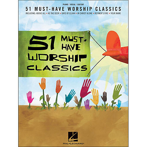 Hal Leonard 51 Must-Have Worship Classics arranged for piano, vocal, and guitar (P/V/G)