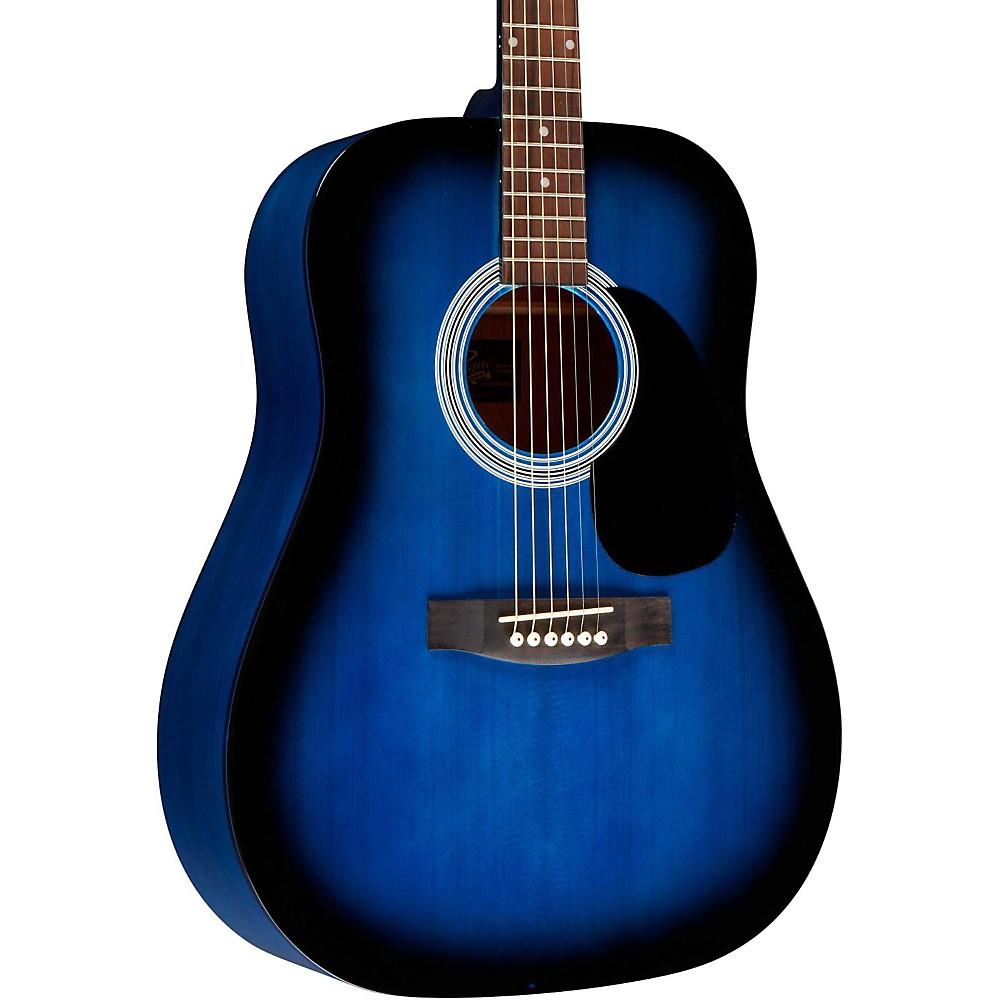 Rogue RA-100D Dreadnought Acoustic Guitar Blue Burst
