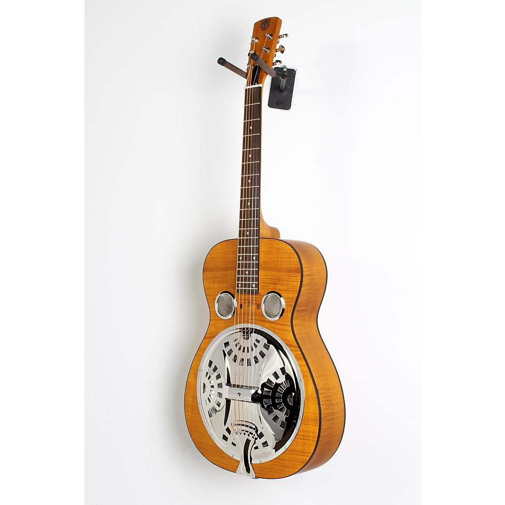 Dobro Hound Dog Deluxe Round Neck Acoustic-Electric With Pickup Vintage Brown 190839096074 514375005008040