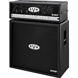 EVH 5150 III 100 Watt Guitar Tube Head Black with 5150 III 412 Guitar Cabinet Black by EVH