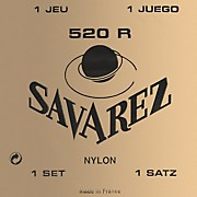 Savarez 520R Traditional Red Card Strong Tension Classical Guitar Strings