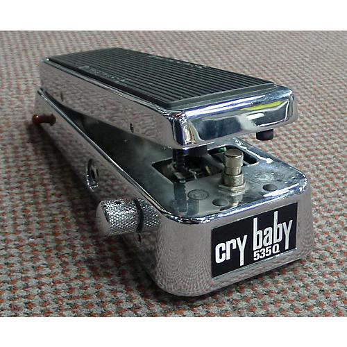 Dunlop 535QC Chrome Cry Baby Wah Effect Pedal-thumbnail