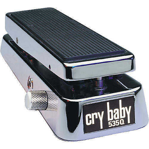 Dunlop 535QC Chrome Cry Baby Wah Pedal-thumbnail