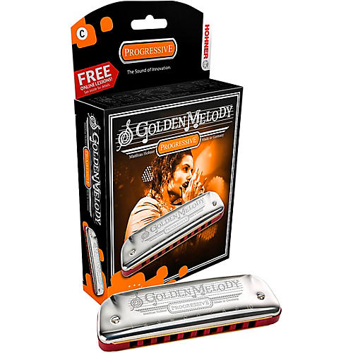 Hohner 542 Golden Melody Harmonica-thumbnail
