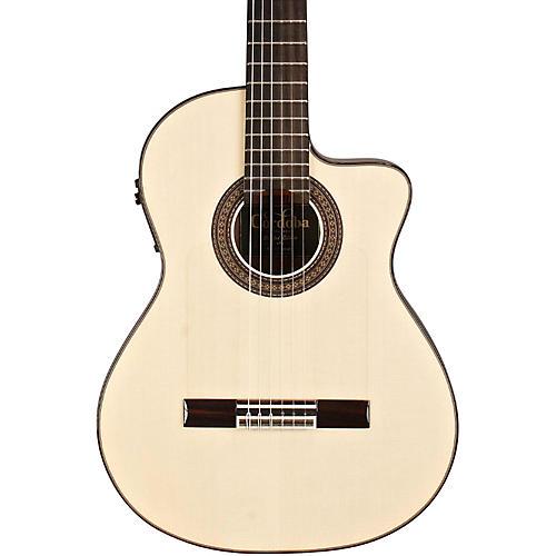 Cordoba 55FCE Flamenco Macassar Ebony Acoustic-Electric Nylon String Flamenco Guitar Natural