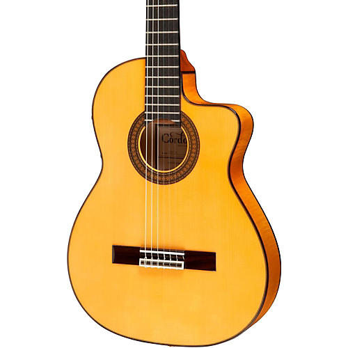 Cordoba 55FCE Thinbody Acoustic-Electric Nylon String Flamenco Guitar-thumbnail