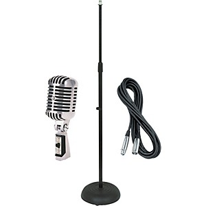 Shure 55SH Dynamic Microphone with Cable and Stand by Shure