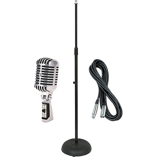 Shure 55SH Dynamic Mic with Cable and Stand-thumbnail