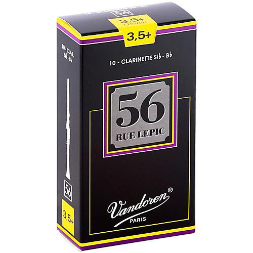 Vandoren 56 Rue Lepic Bb Clarinet Reeds Strength 3.5+ Box of 10
