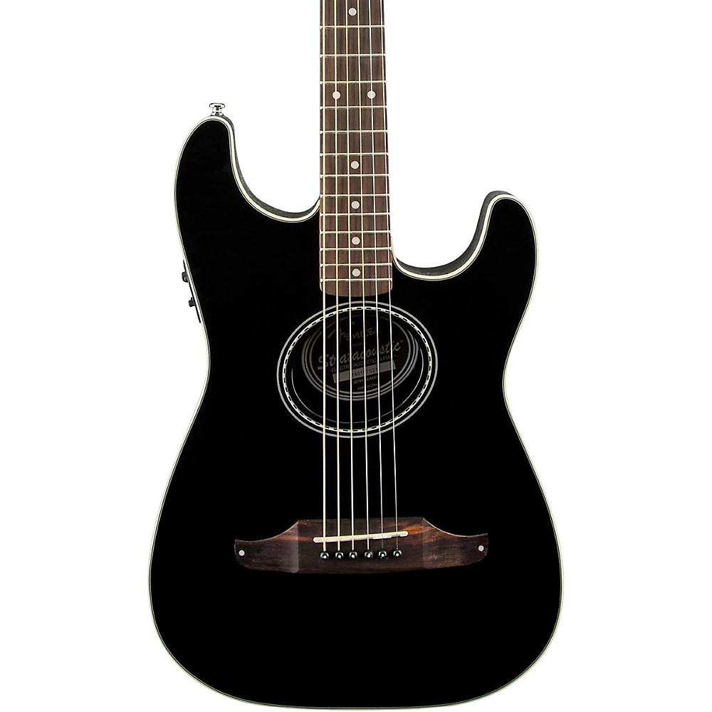 Fender Standard Stratacoustic Acoustic-Electric Guitar Black