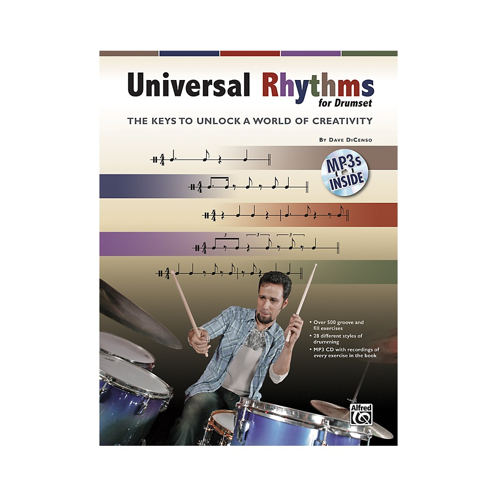 Alfred Universal Rhythms for Drumset: The Keys to Unlock a World of Creativity (Book/CD) 1273887985297