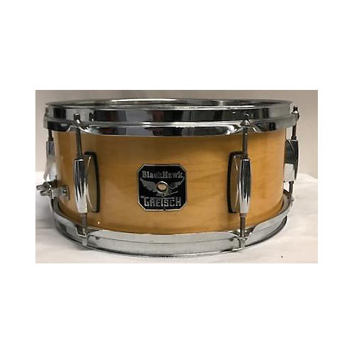 used gretsch drums 5x12 blackhawk snare drum natural 83 guitar center. Black Bedroom Furniture Sets. Home Design Ideas