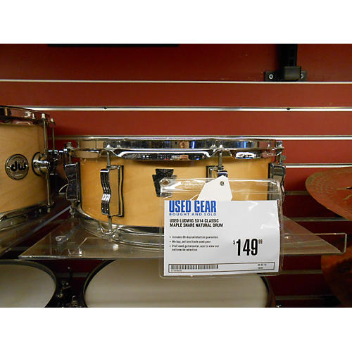 Ludwig 5X14 Classic Maple Snare Natural Drum