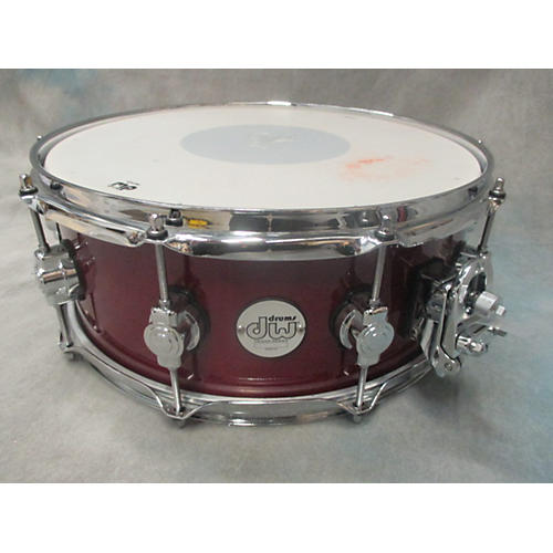 DW 5X14 Design Series Snare Drum Red 8