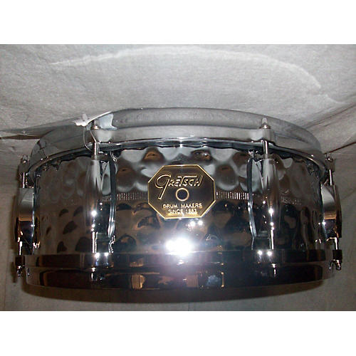 Gretsch Drums 5X14 G4160HB Hammered Chrome Over Brass Drum-thumbnail