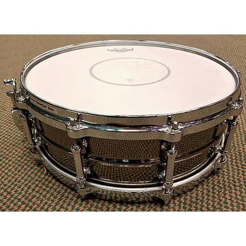 Pearl 5X14 Sensitone Snare Brass Drum Chrome 8