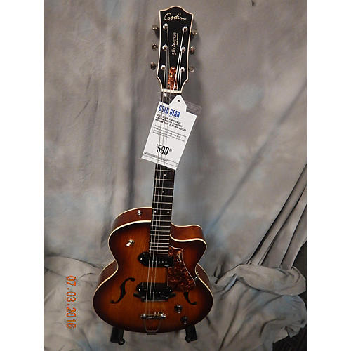 Godin 5th Avenue Kingpin II Hollow Body Electric Guitar-thumbnail