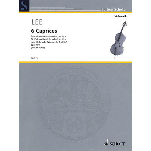 Schott 6 Caprices, Op. 109 (Cello (Cello 2 ad lib.)) String Series
