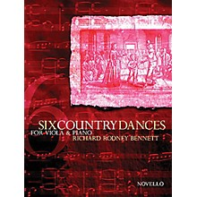 Novello 6 Country Dances (Viola and Piano Accompanimnet) Music Sales America Series