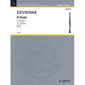 Schott 6 Duos, Op. 74 for 2 Clarinets - Performance Score Woodwind Ensemb...