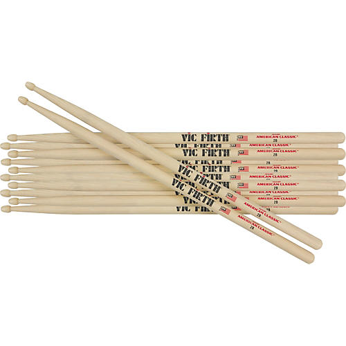 Vic Firth 6-Pair American Classic Hickory Drum Sticks-thumbnail