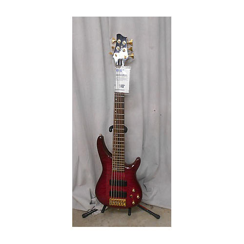 In Store Used 6 STRING BASS Red Electric Bass Guitar