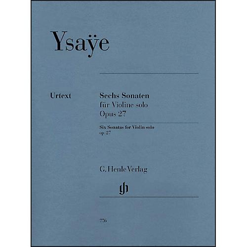 G. Henle Verlag 6 Sonatas for Violin Solo Op. 27 By Ysaye-thumbnail