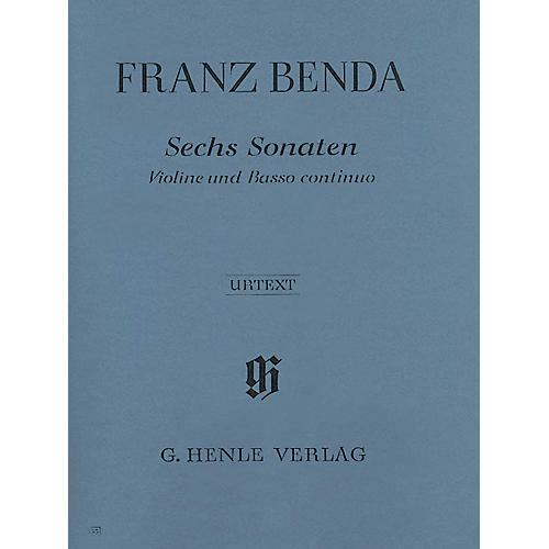 G. Henle Verlag 6 Sonatas for Violin and Basso Continuo Henle Music Folios Series Softcover