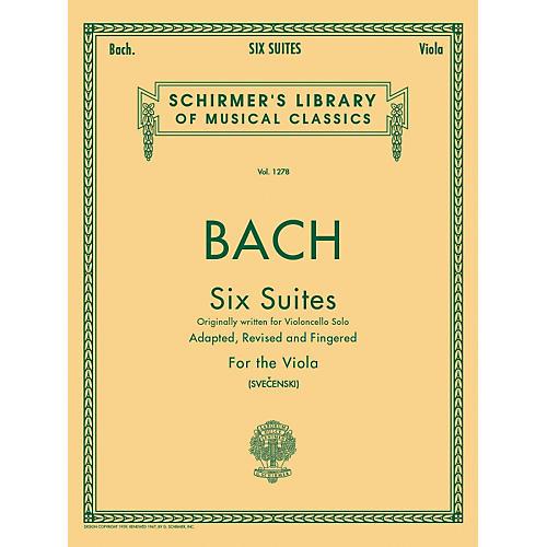 G. Schirmer 6 Suites for Unaccompanied Viola Originally for Violoncello By Bach