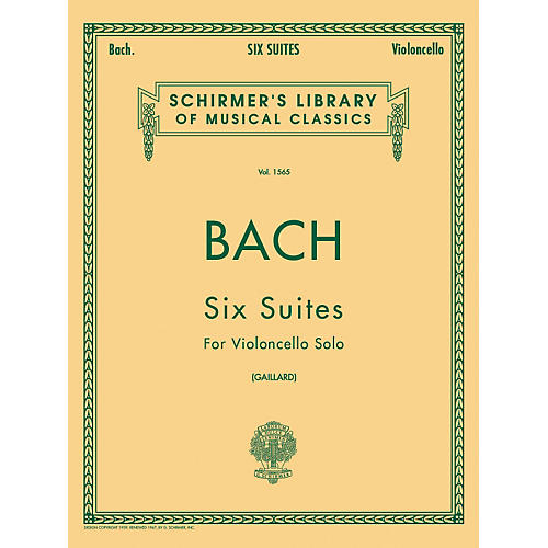 G. Schirmer 6 Suites for Unaccompanied Violoncello Bwv1007-1012 By Bach-thumbnail