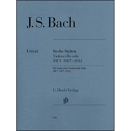 G. Henle Verlag 6 Suites for Violoncello Solo BWV 1007-1012 By Bach