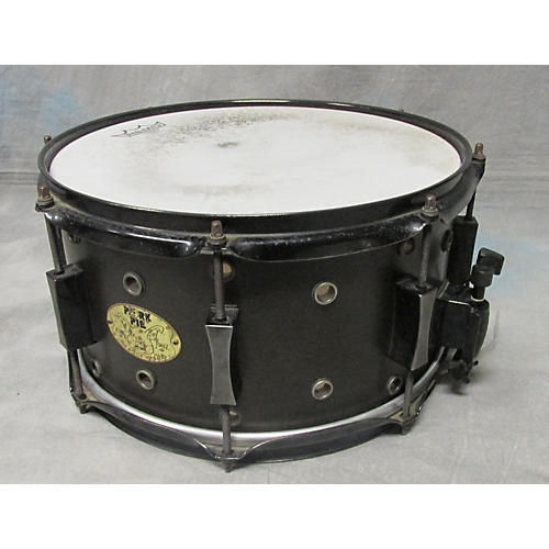 Pork Pie 6.5X13 Vented Snare Drum Drum Black 14
