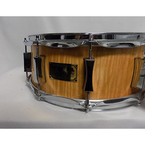 used pork pie usa 6 5x14 6 5 x14 flamed maple snare drum drum natural 15 guitar center. Black Bedroom Furniture Sets. Home Design Ideas