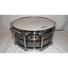 Pork Pie USA 6.5X14 BLACK BRASS SNARE DRUM Drum