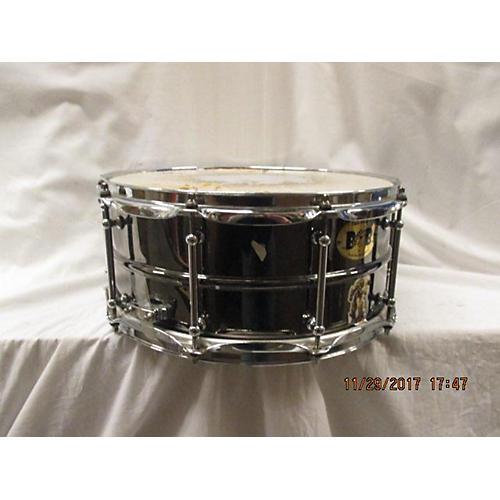 Pork Pie 6.5X14 Big Black Brass Drum