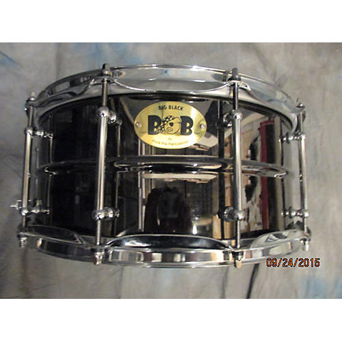 Pork Pie 6.5X14 Big Black Brass Snare Drum-thumbnail