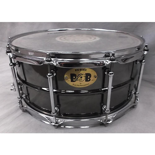 Pork Pie 6.5X14 Big Black Snare Black Chrome Drum