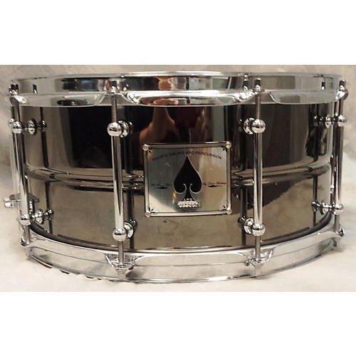 PDP by DW 6.5X14 Black Ace Brass Drum-thumbnail