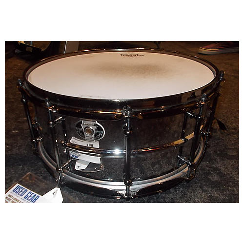 Ludwig 6.5X14 Black Magic Snare Stainless Steel Drum