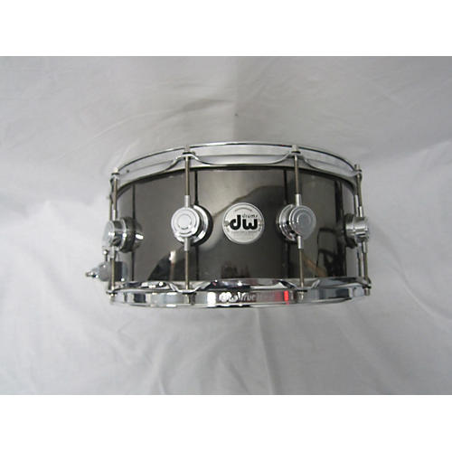 DW 6.5X14 Collector's Series Snare Black Nickle Over Brass Drum-thumbnail
