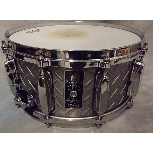Tama 6.5X14 Lars Ulrich Signature Diamond Plate Drum